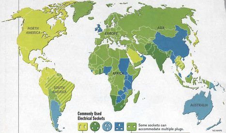 Socket map of the world | Geography Education | Scoop.it