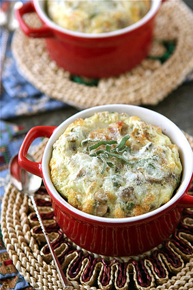 Cookin' Canuck – Make-Ahead Baked Eggs with Bacon, Mushrooms & Sage Recipe | Food for Foodies | Scoop.it
