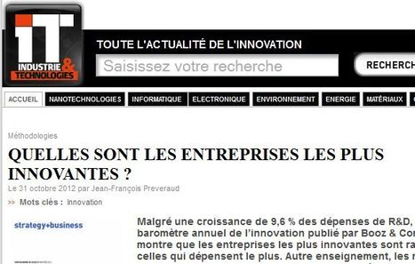 Quelles sont les grandes entreprises les plus innovantes ?   Jisseo :: Imagineering & Making   Scoop.it