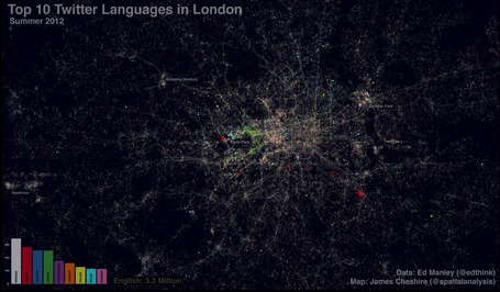 Twitter Languages in London | AP Human Geography Education | Scoop.it