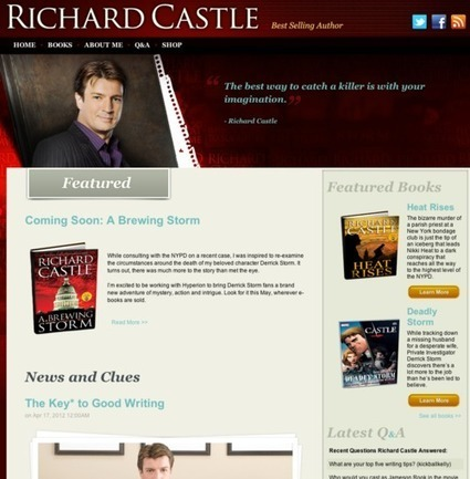 "Doing transmedia television right: ""Castle"" and Richard Castle's official home page 