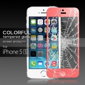 Tempered Glass Protective Film with Home Button Sticker for Apple iPhone 5S Pink - Witrigs.com | Do iphone 5s need screen protectors | Scoop.it