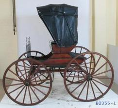 B2355 Horse-drawn vehicle, full size, hooded Abbot buggy, timber/leather, designed by Lewis Downing, Concord, New Hampshire, U.S.A., 1813, made by Arthur Wynne, coachbuilder, Horsham, Victoria, Aus... | Travel in the Roaring 20's | Scoop.it