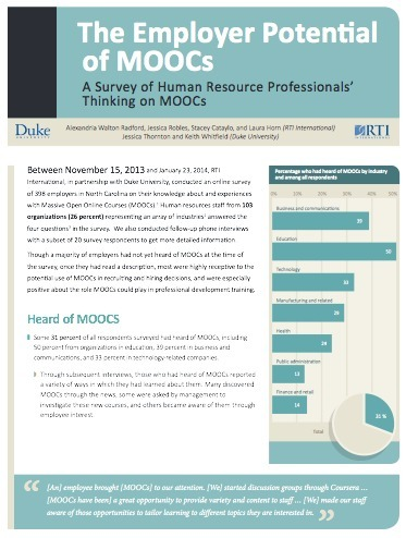 The Employer Potential of MOOCs: A Survey of Human Resource Professionals' Thinking on MOOCs | My Learning Adventure | Scoop.it