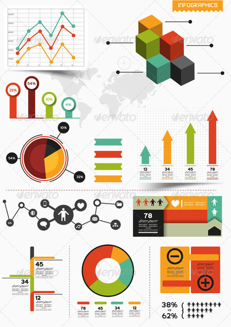 Dazzling Infographics Design Elements: Vector Resources | visual data | Scoop.it