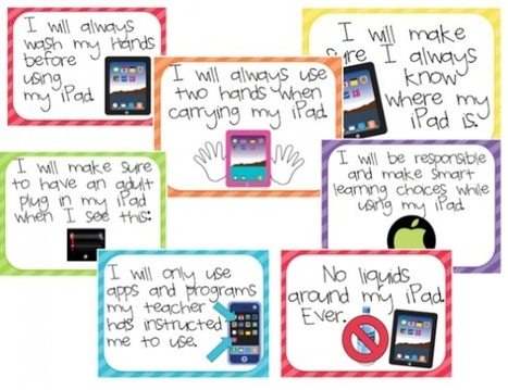 Use iPads In The Classroom? This Acceptable Policy Poster Is For You. | Edudemic | IPads- how can we use them in the classroom? | Scoop.it