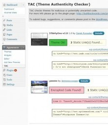 Theme Authenticity Checker : trouvez les codes malicieux dans les thèmes Wordpress - Veille Web 2.0 | Trouver des clients | Scoop.it