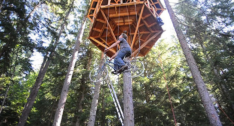 An Ingenious Bicycle-Powered Treehouse Elevator Lifts a Rider 30 Feet in Seconds | Architecture and Architectural Jobs | Scoop.it