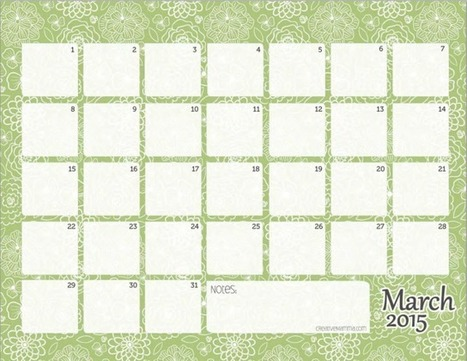 10+ Sites To Find The PerfectFree Printable Calendar Template All Year Long | Life Hacks & Helpers - Reference & Research | Scoop.it