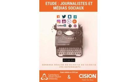 Infographie : l'usage des réseaux sociaux par les journalistes selon Cision | Offremedia | Actu des médias | Scoop.it