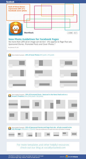 A Guide to Facebook's 20 Percent Text in Images Rule (Infographic) | My Social Media Ghost | Scoop.it