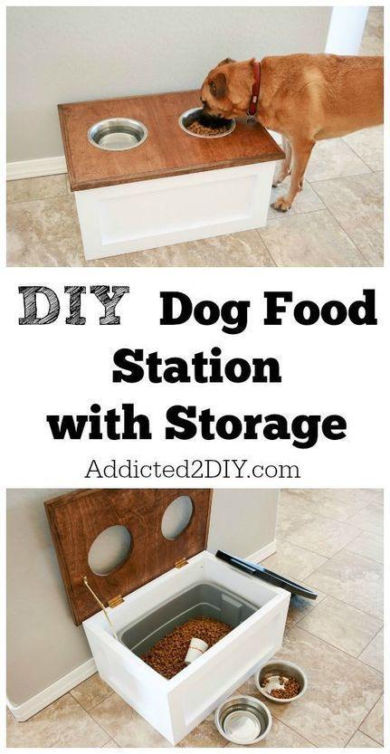 DIY Dog Food Station with Storage | Inchalam | Scoop.it