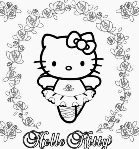 free hello kitty printable coloring pages | Printable coloring pages | Scoop.it