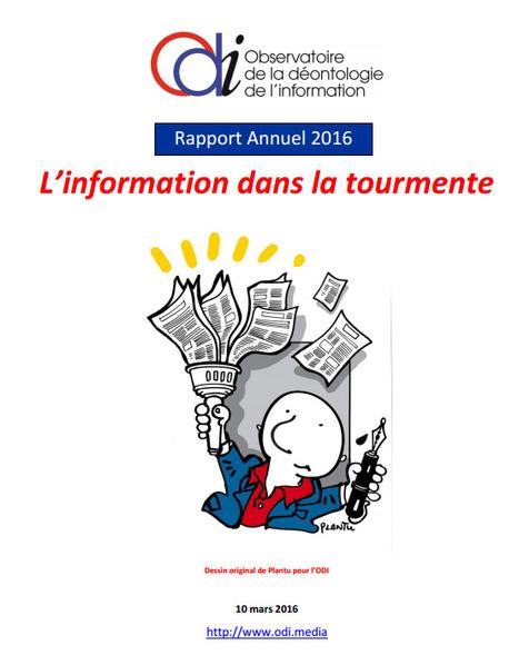 Déontologie de l'info: l'ODI publie son 3ème rapport | FLE, TICE & éducation aux médias | Scoop.it