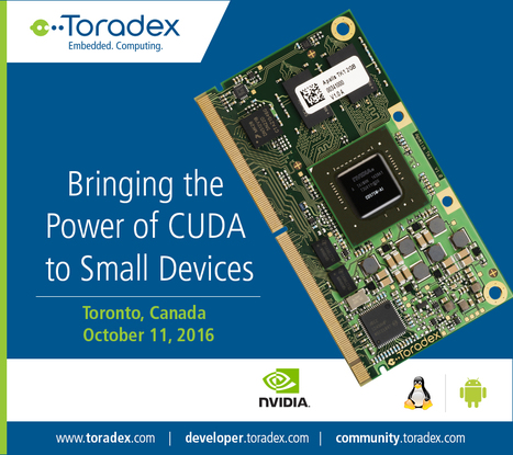 Bringing the Power of CUDA to Small Devices - presented by Toradex | Toradex Computer Modules | Scoop.it