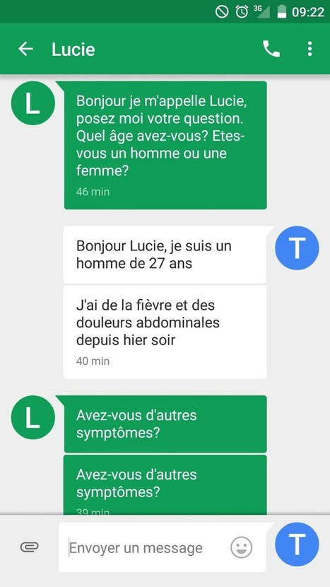 Bot test : le médecin par SMS propulsé par l'intelligence artificielle | Buzz e-sante | Scoop.it