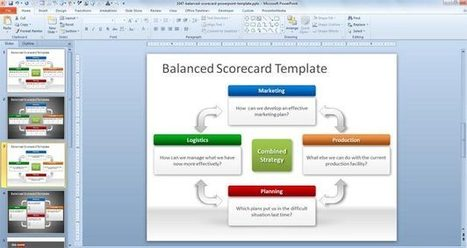 Free Balanced Scorecard PowerPoint Template   Cesar2013   Scoop.it
