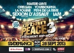 Concert: Urban Peace 3 le 28 septembre au Stade de france ! | cotentin webradio Buzz,peoples,news ! | Scoop.it