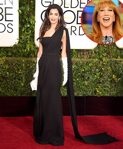 Kathy Griffin Slams Amal Alamuddin's Golden Globes Gloves, Says They ... - Us Magazine | Fashion Offers by Earlene | Scoop.it