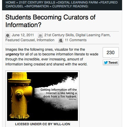 Students Becoming Curators of Information? | Langwitches Blog | Digital Curation Tools | Scoop.it