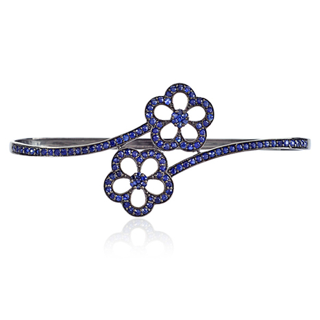 Blue Sapphire Floral Palm Bracelet | Diamond Jewelry | GemcoDesigns | Pave Diamond Palm Bracelets | Diamond Jewelry | GemcoDesigns | Scoop.it