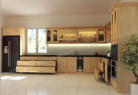Tủ bếp gỗ chị HUỆ - Hà Nội TBAK364 | Tủ bếp, Bếp An Khang tạo dấu ấn cho ngôi nhà VIỆT 0839798355 | Scoop.it