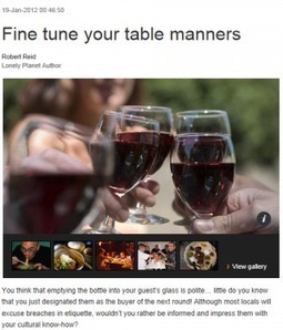 Travel Etiquette: Food andDrink via @Shellterrell | A New Society, a new education! | Scoop.it