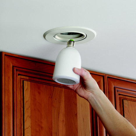 Bluetooth Music Bulb LED: Remote Control Wireless Stereo Audio Speaker   Lighting Controls   Scoop.it