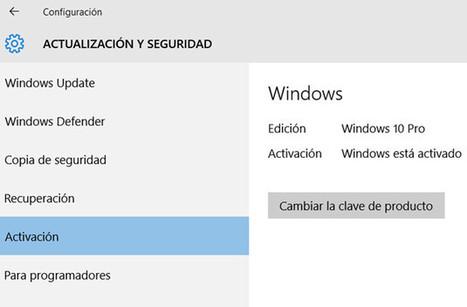 ¿Cómo funciona la activación de Windows 10? » MuyWindows | SOM | Scoop.it