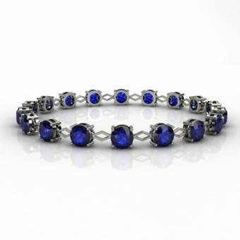 Top Tanzanite - 8.10 Carat Round Bracelet in White Gold | Tanzanite Earrings | Scoop.it