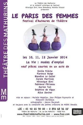 La vie mode d'emploi | Festival PARIS DES FEMMES 2014 10-12.01.2014 | MUSÉO, ARTS ET SPECTACLES | Scoop.it
