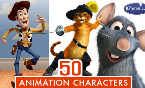 Top 50 Animation Movie Character Designs of All Time | sabkarsocialmediaInfographics | Scoop.it