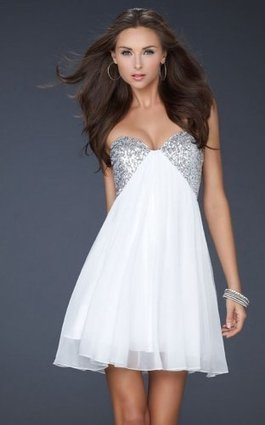 Sweetheart Neck Sequin A Line White Strapless Short Prom Dress [White Strapless Short Dress] - $157.00 : Prom Dresses On Sale, 60% off Dresses for Prom Night 2013 | homecoming dresses 2013 | Scoop.it