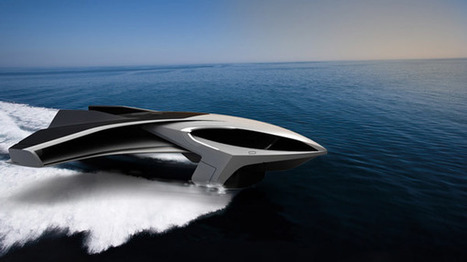 Un yacht design qui vole à 400 km/h ! | Design insolite | Scoop.it