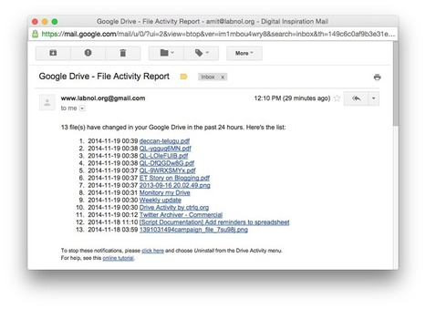Get Daily Email Reports of your Google Drive Activity | Evsters Tech | Scoop.it