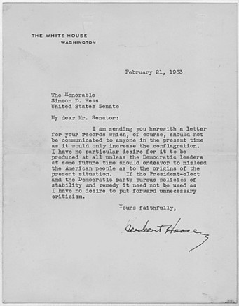 Primary Document #3Documenting Key Presidential Decisions | Herbert Hoover & The Great Depression | Scoop.it