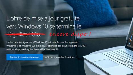 Bénéficier (encore) de la mise à jour gratuite vers Windows 10 !   Outils perso 2.0   Scoop.it