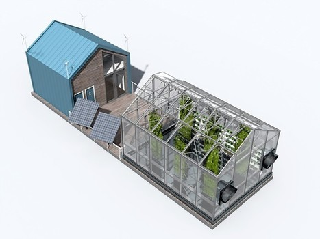 "Floating urban greenhouse produces clean energy and organic food (""a cool concept, an eco barge!"") 