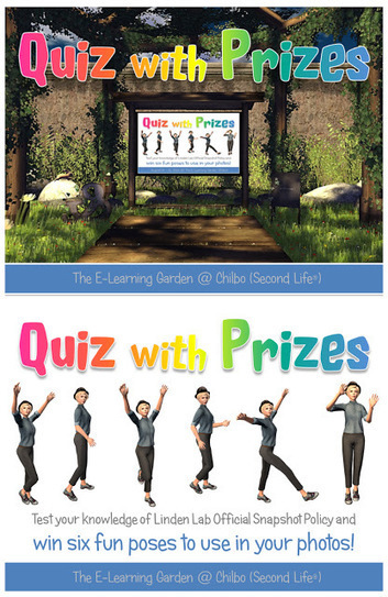 There's a Quiz with Prizes at The E-Learning Garden (Chilbo): Will You Accept the Challenge? | Second Life and other Virtual Worlds | Scoop.it