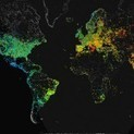 Watch 24 hours of internet activity around the world in 8 seconds | Global education = global understanding | Scoop.it