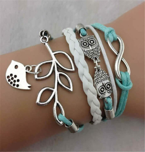 Handmade Infinity Silver, Leather Owl Bracelet   Online Shopping   Scoop.it