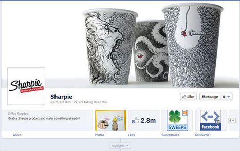 40 Creatively Awesome Facebook Timeline As Used By Brands - SloDive | Places to go | Scoop.it
