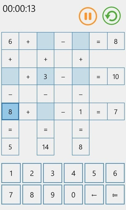 Challenge your math skills with MathGrid 1.0 for Windows Phone ... | Math education for the new millenium | Scoop.it