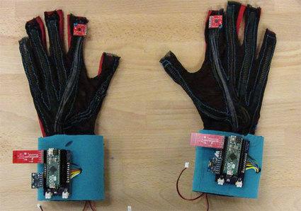 Des gants capables de traduire la langue des signes en texte vocal   L'e-Space Multimédia   Scoop.it