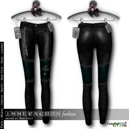 BodyCult Leather Teal Gothic Skinny Pants Gift by Immerschoen Fashion | Teleport Hub - Second Life Freebies | Second Life Freebies | Scoop.it