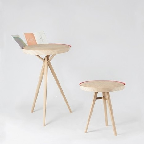 La rainure en périphérie des tables Yoav par Nui Studio permet d'y glisser des documents  | inoow design lab | Scoop.it