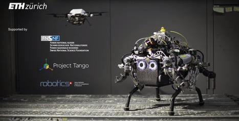 Four-legged bot uses drone sidekick to avoid rough terrain | Heron | Scoop.it