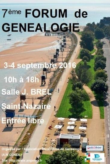 7ème forum de généalogie à Saint-Nazaire | Généalogie | Scoop.it