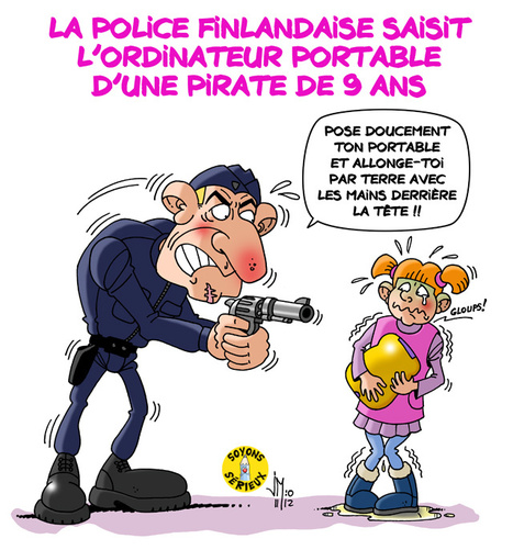 La police saisit le portable d'une fillette | Baie d'humour | Scoop.it