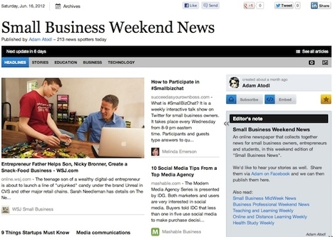 """June 16 - """"Small Business Weekend News"""" is out 